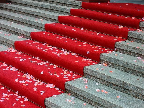Kampanjmatta, röda mattan